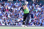 Aaron Finch drives. T20 international, Australia v India. Sydney Cricket Ground, NSW, Australia, 25 November 2018. Copyright Image: David Neilson / www.photosport.nz