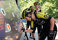 Amanda SPRATT (AUS) Mitchelton-Scott signs the Signature Board ahead of The Prudential RideLondon Classique. Saturday 28th July 2018<br /> <br /> Photo: Bob Martin for Prudential RideLondon<br /> <br /> Prudential RideLondon is the world's greatest festival of cycling, involving 100,000+ cyclists - from Olympic champions to a free family fun ride - riding in events over closed roads in London and Surrey over the weekend of 28th and 29th July 2018<br /> <br /> See www.PrudentialRideLondon.co.uk for more.<br /> <br /> For further information: media@londonmarathonevents.co.uk