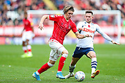 Charlton Athletic midfielder Conor Gallagher (11) and Preston North End midfielder Alan Browne (8) during the EFL Sky Bet Championship match between Charlton Athletic and Preston North End at The Valley, London, England on 3 November 2019.