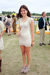 IONA FRASER daughter of Hon. Lucy Pearson and Charles Torquil de Montalt Fraser at the Veuve Clicquot Gold Cup polo final held at Cowdray Park, Midhurst, West Sussex on 18th July 2010.