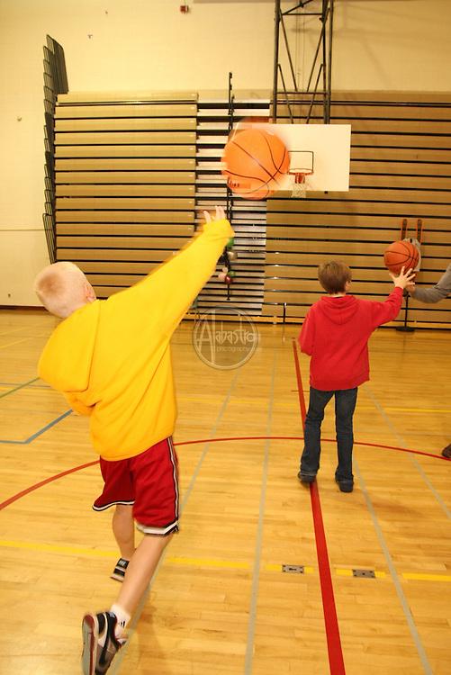 Basketball Challenge at HIMS Carnival Night 2010 - 6th grader Giddeon Manahan