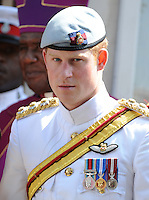 Prince Harry attends morning worship at Christchurch Cathedral, Nassau, on the 4th March 2012.<br /> PICTURE BY JAMES WHATLING