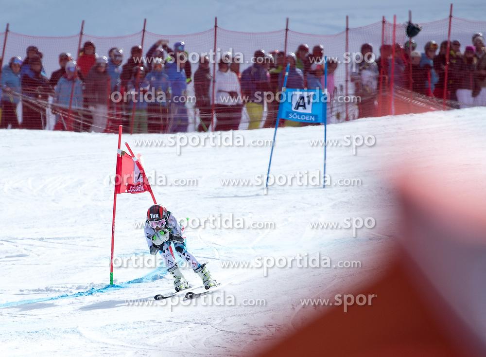 22.10.2016, Rettenbachferner, Soelden, AUT, FIS Weltcup Ski Alpin, Soelden, Riesenslalom, Damen, 2. Durchgang, im Bild Stephanie Brunner (AUT) // Stephanie Brunner of Austria reacts after her 2nd run of ladies Giant Slalom of the FIS Ski Alpine Worldcup opening at the Rettenbachferner in Soelden, Austria on 2016/10/22. EXPA Pictures © 2016, PhotoCredit: EXPA/ Johann Groder