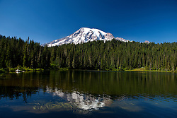 Reflection of Mount Rainier in Reflection Lake, Mt. Rainier National Park, Washington, United States of America