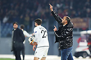 Wolfsberg head coach Mohamed Sahli gestures during the UEFA Europa League, Group J football match between AS Roma and Wolfsberg AC on December 12, 2019 at Stadio Olimpico in Rome, Italy - Photo Federico Proietti / ProSportsImages / DPPI
