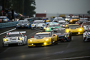 June 28, 2015- Watkins Glen 6hour: Start of the Watkins Glen 6 hrs of Sahlen led by Magnussen, Garcia, Briscoe,  Corvette Racing C7.R GTLM