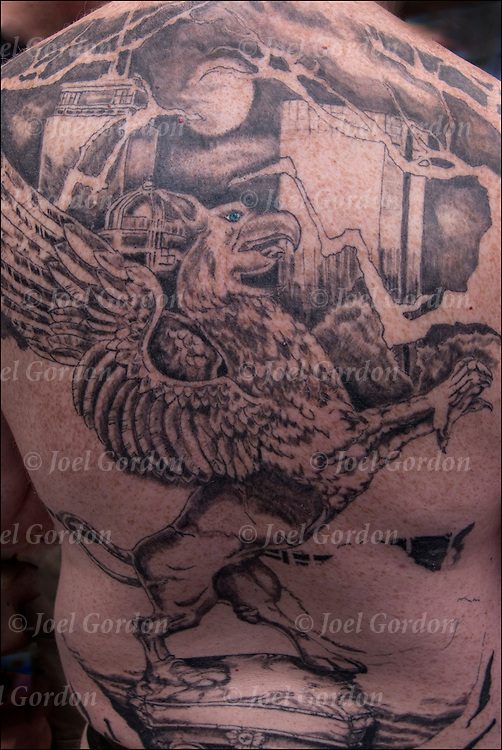 The Phoenix Rising  is a symbol of rebirth, immortality, and renewal.   <br /> <br /> Body art or tattoos has entered the mainstream it is known longer considered a weird kind of subculture.<br /> <br /> &quot;According to a 2006 Pew survey, 40% of Americans between the ages of 26 and 40 have been tattooed&quot;.