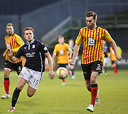 Dundee's Greg Stewart and Partick Thistle's Stephen O'Donnell - Partick Thistle v Dundee - SPFL Premiership at Dens Park<br /> <br />  - &copy; David Young - www.davidyoungphoto.co.uk - email: davidyoungphoto@gmail.com