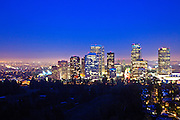 Los Angeles City Skyline View at Dusk