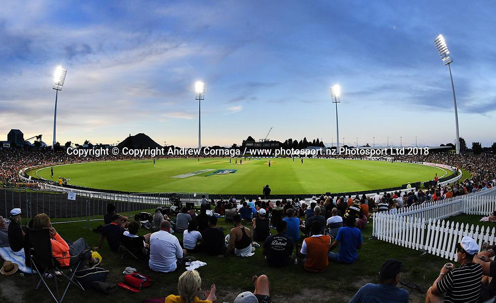 A general view of Bay Oval.<br /> Pakistan tour of New Zealand. T20 Series. 3rd Twenty20 international cricket match, Bay Oval, Mt Maunganui, New Zealand. Sunday 28 January 2018. &copy; Copyright Photo: Andrew Cornaga / www.Photosport.nz