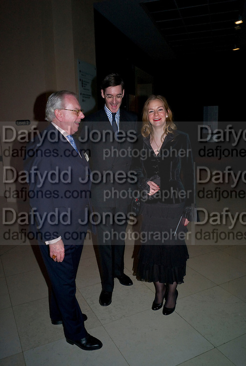 DAVID STARKEY; HELENA REES-MOGG; JACOB REES-MOGG, Van Dyck private view and dinner. Tate Britain. 16 February 2009
