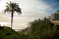Lima, Peru- March 22, 2015: The El Malecón is a beautiful six-mile long promenade along the coastal bluffs with manicured parks like Parque del Amor, which is anchored by giant statue of a couple frozen in an amorous moment. CREDIT: Chris Carmichael for The New York Times