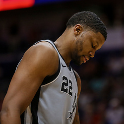 Apr 11, 2018; New Orleans, LA, USA; San Antonio Spurs forward Rudy Gay (22) against the New Orleans Pelicans during the second half at the Smoothie King Center. The Pelicans defeated the Spurs 122-98. Mandatory Credit: Derick E. Hingle-USA TODAY Sports