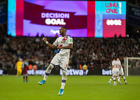Football - 2019 / 2020 Premier League - West Ham United vs. Crystal Palace <br /> <br /> Moments later it is all celebrations as VAR overules the decision and the goal stands at the London Stadium<br /> <br /> COLORSPORT/DANIEL BEARHAM