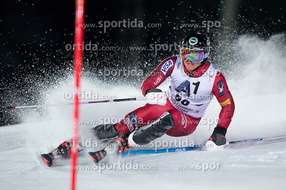 Robby Kelley (USA) during the 7th Mens' Slalom of Audi FIS Ski World Cup 2016/17, on January 24, 2017 at the Planai in Schladming, Austria. Photo by Martin Metelko / Sportida