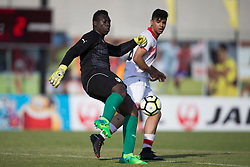 AUBAGNE, FRANCE - Tuesday, May 30, 2017: Ivory Coast's About Niang in action during the Toulon Tournament Group B match between Bahrain and Ivory Coast at the Stade de Lattre-de-Tassigny. (Pic by Laura Malkin/Propaganda)