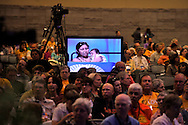 Plenary IV - Isabel Chairez, a Phoenix resident who spent three months in a Maricopa County jail last year while pregnant.©Nancy Pierce/UUA