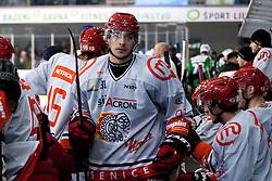 Luka Tosic (HK Acroni Jesenice, #81) during ice-hockey match between HDD Tilia Olimpija and HK Acroni Jesenice in 23rd Round of EBEL league, on November 20, 2011 at Hala Tivoli, Ljubljana, Slovenia. (Photo By Matic Klansek Velej / Sportida)