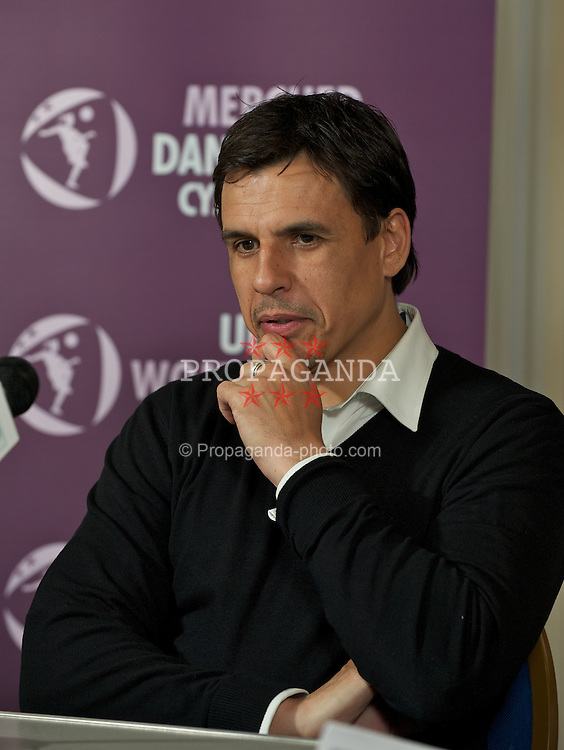 CARMARTHEN, WALES - Thursday, January 26, 2012: Wales' new manager Chris Coleman at the Football Association of Wales roadshow to promote the UEFA Women's U19 2013 tournament at Richmond Park. (Pic by David Rawcliffe/Propaganda)