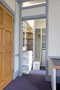 View towards storage/cooking area with doors open