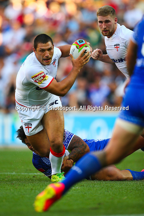 Ryan Hall during the Four Nations test match between England and Samoa at Suncorp Stadium,  Brisbane Australia on October 18, 2014.