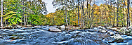 Ken Lockwood Gorge in Fall. This image is a stitched panorama composed of 6 high dynamic range image, each hdr image is composed of a 5 image bracket. All in it took 30 images to create this image