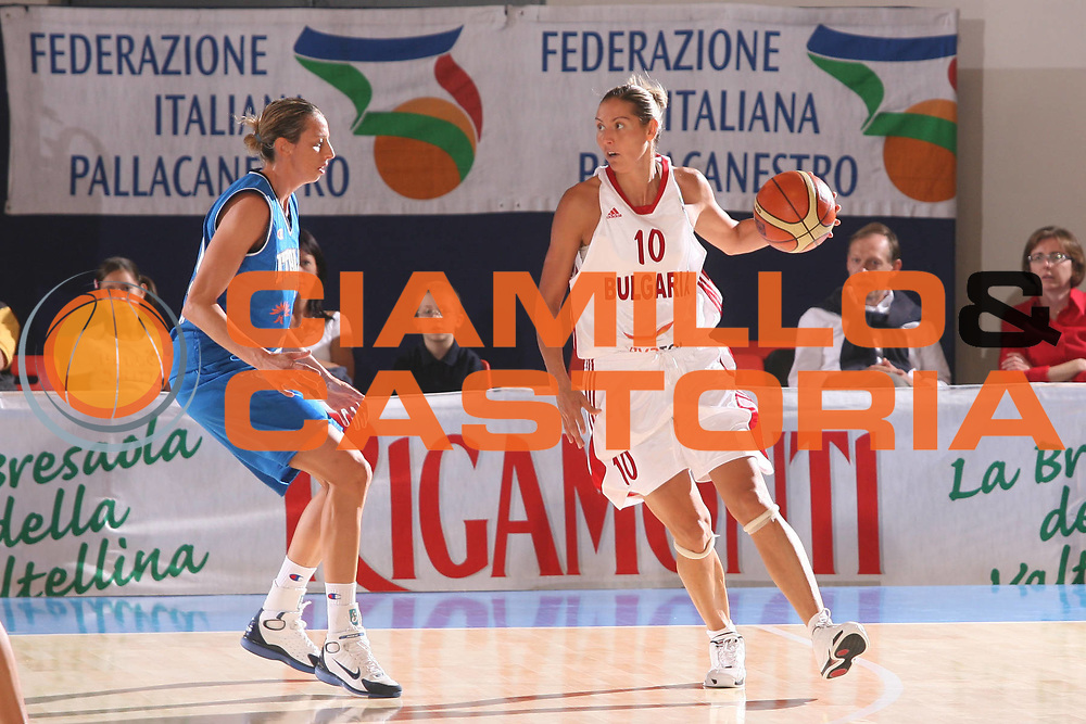 DESCRIZIONE : Bormio Torneo Preparazione Europei Nazionale Femminile 2007 Italia Bulgaria <br /> GIOCATORE : Yolovska <br /> SQUADRA : Bulgaria <br /> EVENTO : Torneo Preparazione Europei Nazionale Femminile 2007 <br /> GARA : Italia Bulgaria <br /> DATA : 12/08/2007 <br /> CATEGORIA : Palleggio <br /> SPORT : Pallacanestro <br /> AUTORE : Agenzia Ciamillo-Castoria/G.Ciamillo