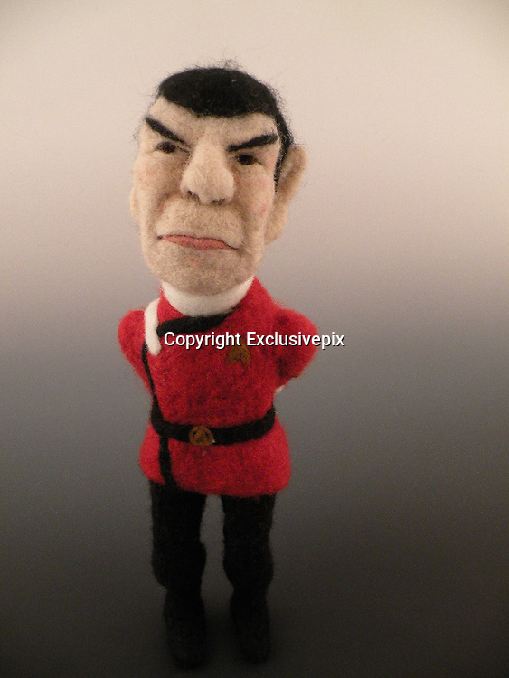 USA - 17/-8/2010 - Celebrity Sculptural needle felting by Kay Petal from Alaska has been creating amazing creations since 2007.all these creations are made by a single needle and wool.<br /> Photo Shows: Dr Spock<br /> (&copy;Kay Petal/Exclusivepix)