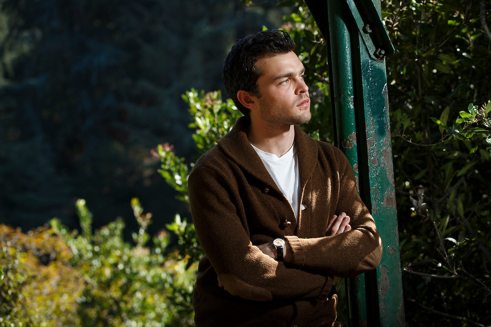Actor Alden Ehrenreich poses for a portrait at Franklin Canyon Park on Monday, February 8, 2016 in Beverly Hills, Calif. A Los Angeles native, he stars in the new Cohen Bros. film 'Hail Caesar!' &copy; 2016 Patrick T. Fallon<br /> NO USE WITHOUT PERMISSION
