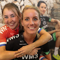 07-02-2017: Wielrennen: Teampresentatie WM3: Eindhoven  <br />EINDHOVEN (NED) cycling<br />At the European Head Quater of Shimano the new WM3 Team with leading lady Marianne Vos was presented. Monique Tenniglo, Anouska Koster