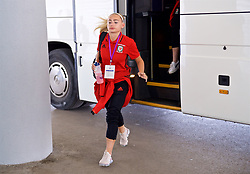 ASTANA, KAZAKHSTAN - Sunday, September 17, 2017: Wales' Charlie Estcourt arrives ahead of the FIFA Women's World Cup 2019 Qualifying Round Group 1 match between Kazakhstan and Wales at the Astana Arena. (Pic by David Rawcliffe/Propaganda)