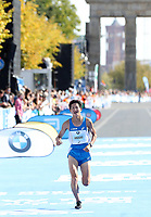 Daisuke Uekado (JPN) im Zieleinlauf des BMW Berlin Marathon 2018 in Berlin am 16.09.2018