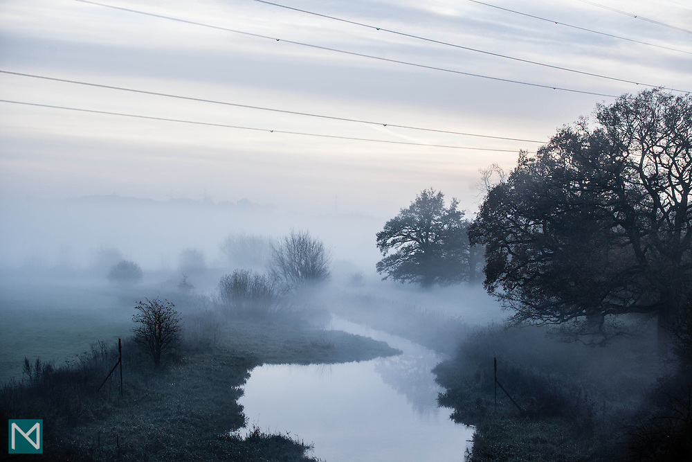 Mist over the Colne river in Watford