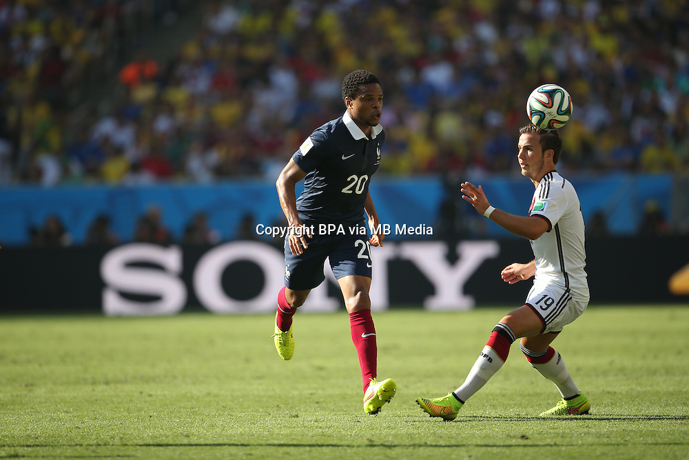 Loic Remy. France v Germany, quarter-final. FIFA World Cup Brazil 2014. 4 July 2014