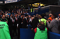 Photo: Tony Oudot.<br /> Chelsea v Manchester United. The Barclays Premiership. 09/05/2007.<br /> Manchester United first team players including Cristiano Ronaldo and Ryan Giggs are led to their seats to watch the game