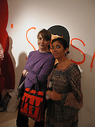 Aieta Wilson and Daisy de Villeneuve. Barry McGee private view. Modern Art. Redchurch St. 7 September 2002. © Copyright Photograph by Dafydd Jones 66 Stockwell Park Rd. London SW9 0DA Tel 020 7733 0108 www.dafjones.com