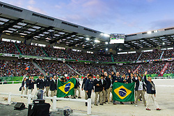Opening Ceremony, Team BRA <br /> Alltech FEI World Equestrian Games™ 2014 - Normandy, France.<br /> © Hippo Foto Team - Leanjo de Koster<br /> 25/06/14