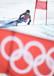 February 15, 2018 - Pyeongchang, South Korea - SARA SCHLEPER of Mexico on her first run at the Womens Giant Slalom event Thursday, February 15, 2018 at the Yongpyang Alpine Centerl at the Pyeongchang Winter Olympic Games.  Photo by Mark Reis, ZUMA Press/The Gazette (Credit Image: © Mark Reis via ZUMA Wire)
