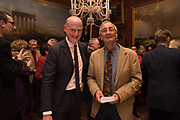 HARRY MOUNT, HUGH PIKE; Oldie magazine Christmas party, The Garrick club. Covent Garden, London, 4 December 2018