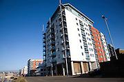 New apartment housing, Wet Dock waterfront, Ipswich, Suffolk, England