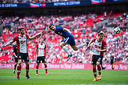 Chelsea (11) Pedro, Southampton (2) Cédric Soares, Southampton (6) Wesley Hoedt during the The FA Cup match between Chelsea and Southampton at Wembley Stadium, London, England on 22 April 2018. Picture by Sebastian Frej.