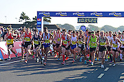 Mens Elite runners get underway during The Great South Run in Southsea, Portsmouth, United Kingdom on 23 October 2016. Photo by Jon Bromley.