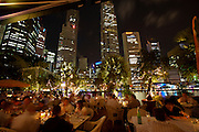 Nightlife along Singapore River. Fine dining at Indochine Waterfront.