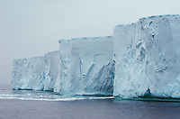 Tabluar iceberg off of Deception Island in Antarctica.