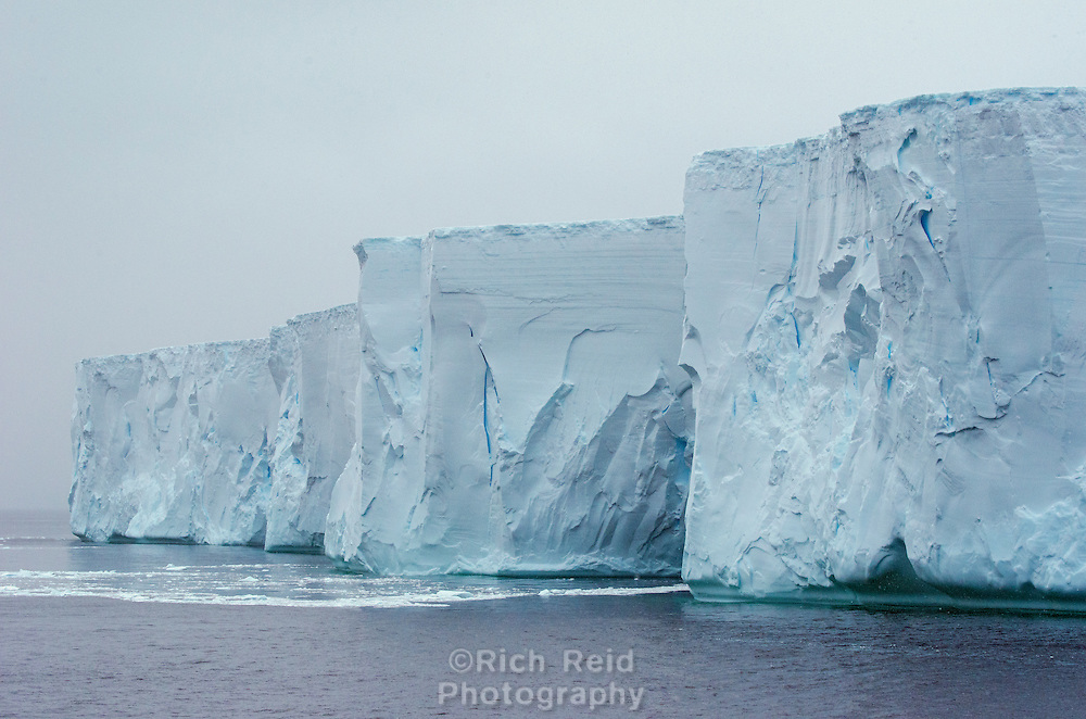 Tabluar iceberg off of Deception Island in Antarctica.