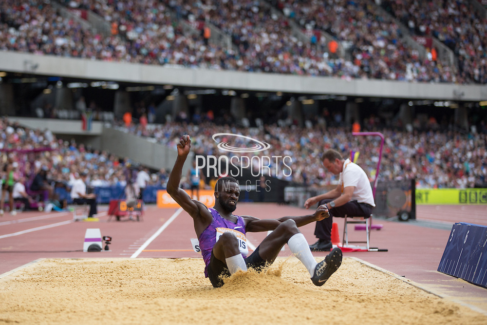 Kaftan Gomis of France in the Long Jump during the Sainsbury's Anniversary Games at the Queen Elizabeth II Olympic Park, London, United Kingdom on 25 July 2015. Photo by Phil Duncan.