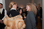 ASSIA WEBSTER; JACKIE MARTIN; STEPHANIE THEOBALDS, THE LAUNCH OF THE KRUG HAPPINESS EXHIBITION AT THE ROYAL ACADEMY, London. 12 December 2011.