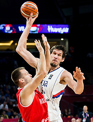 Boban Marjanovic of Serbia during basketball match between National Teams of Serbia and Hungary at Day 11 in Round of 16 of the FIBA EuroBasket 2017 at Sinan Erdem Dome in Istanbul, Turkey on September 10, 2017. Photo by Vid Ponikvar / Sportida