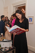 HELEN THORPE, Valeria Napoleone hosts a dinner at her apartment e to celebrate the publication of her book  Valeria Napoleone's Catalogue of Exquisite Recipes. Palace Green. Kensington. London. 28 September 2012.