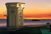 Laguna Beach Lifeguard Tower at Sunset